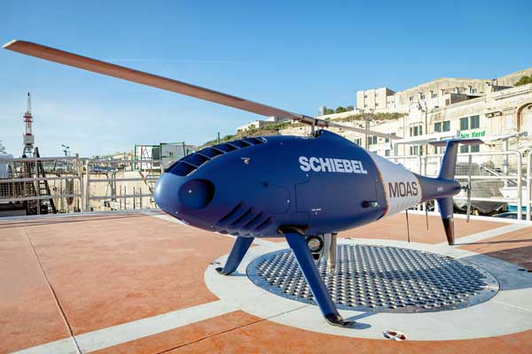 Schiebel's Camcopter S-100 Used For Rescue